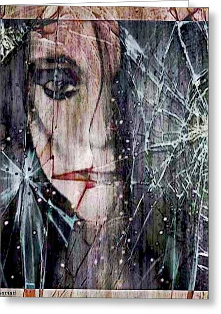 Shatter Greeting Cards - Shattered And Broken Greeting Card by Linda Sannuti