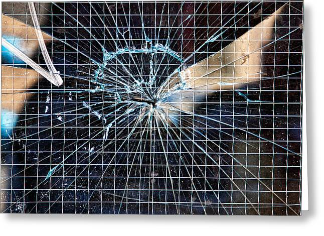 Shatters Greeting Cards - Shattered but not Broken Greeting Card by Peter Tellone