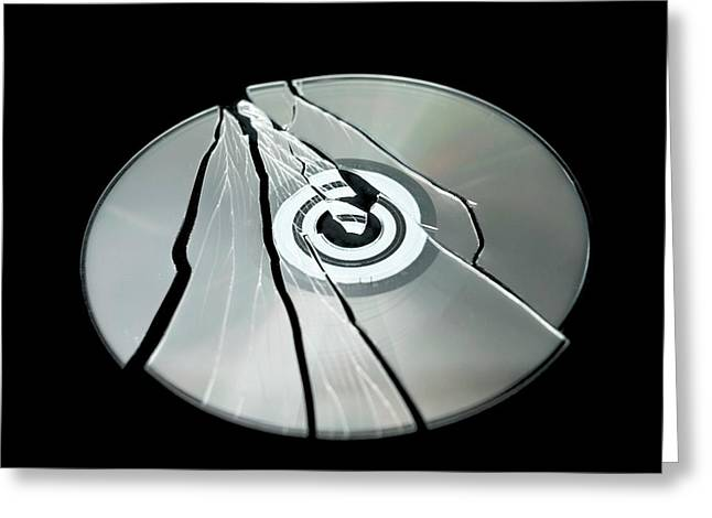 Shattered Cd-rom Greeting Card by Robert Brook