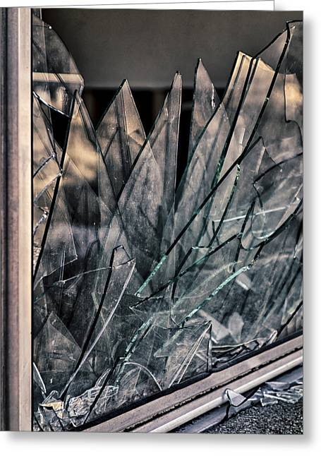 Shattered Greeting Card by Loree Johnson