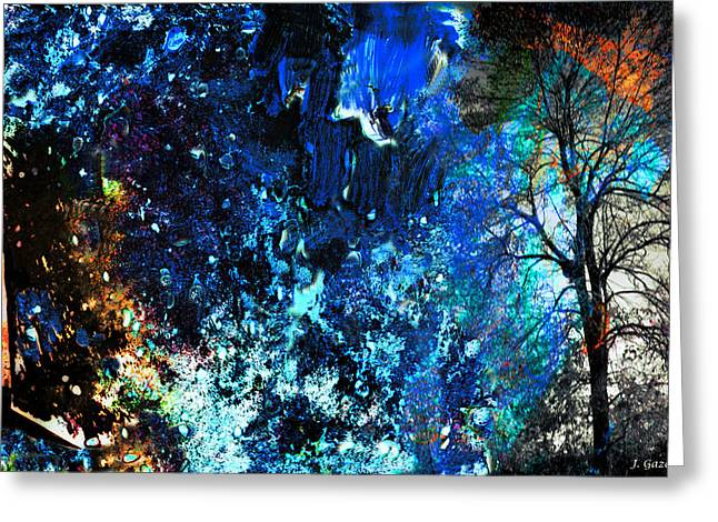Bare Trees Mixed Media Greeting Cards - Shattered Season Greeting Card by Jo-Anne Gazo-McKim