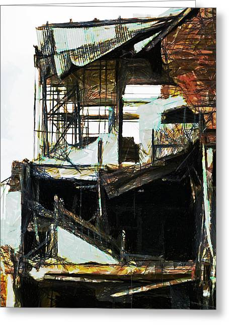 Aftershock Greeting Cards - Shattered Greeting Card by Steve Taylor