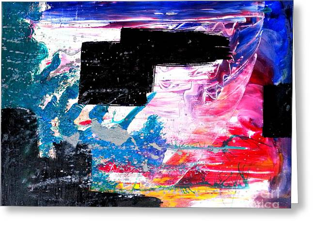 Censorship Paintings Greeting Cards - Shattering Censorship Greeting Card by Keith Conerly