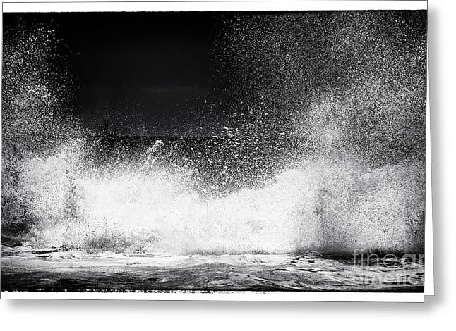 Shattered Greeting Cards - Shattering Waves Greeting Card by John Rizzuto