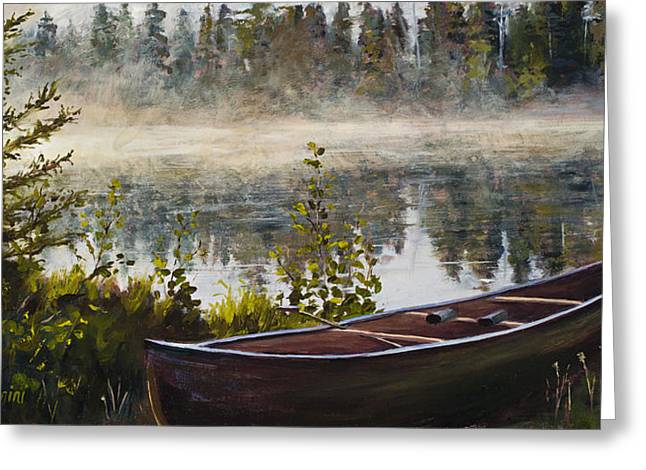 Boundary Waters Paintings Greeting Cards - Shavasana Greeting Card by Mary Giacomini