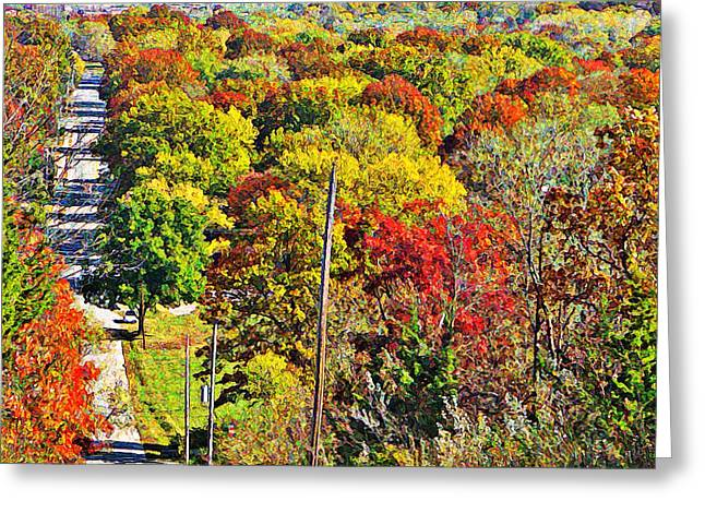 Incline Greeting Cards - Shawnee Hill  Greeting Card by Chris Berry