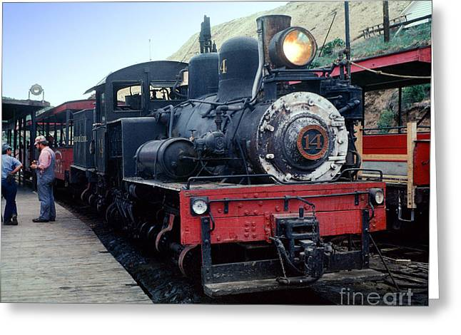 Steamer Truck Greeting Cards - Shay No 14 Colorado Central 3 truck shay steam locomotive Greeting Card by Wernher Krutein
