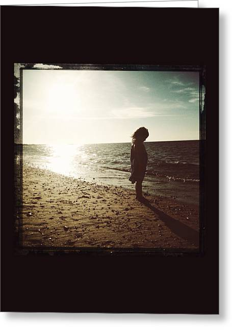 Nantucket Sound Greeting Cards - She and the Sea Greeting Card by Natasha Marco