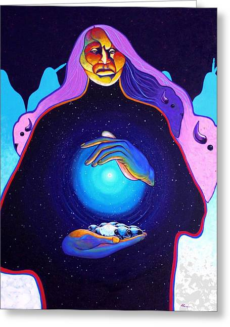 She Carries The Spirit Greeting Card by Joe  Triano