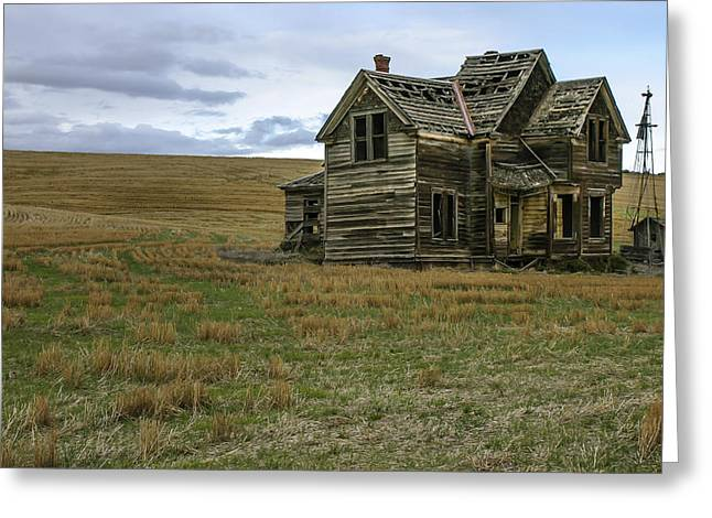 Old Home Place Greeting Cards - She Didnt Like the Country Greeting Card by Jean Noren