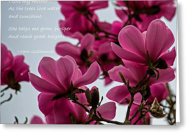 She Helps Me Grow - Mother's Day Greeting Card by Jordan Blackstone