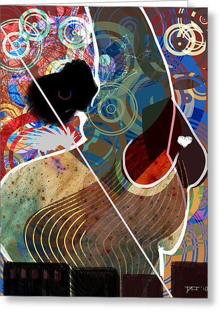 African-american Digital Greeting Cards - She is a Spirit of the City Greeting Card by David James