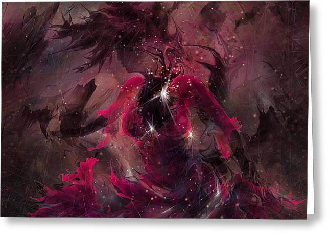 Torment Greeting Cards - She is the Storm Greeting Card by Rachel Christine Nowicki