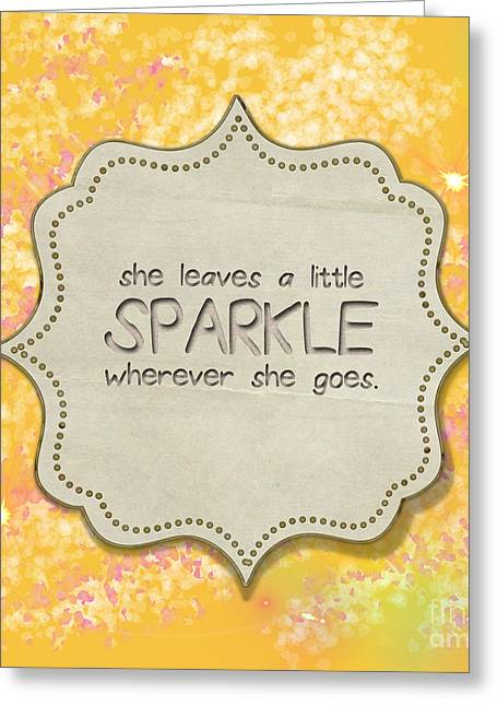 She Leaves A Little Sparkle Greeting Card by Liesl Marelli