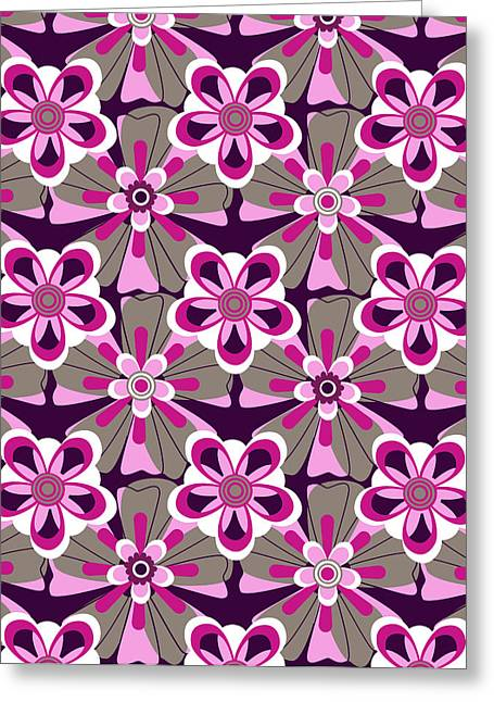 She Loves Me Floral Greeting Card by Lisa Noneman