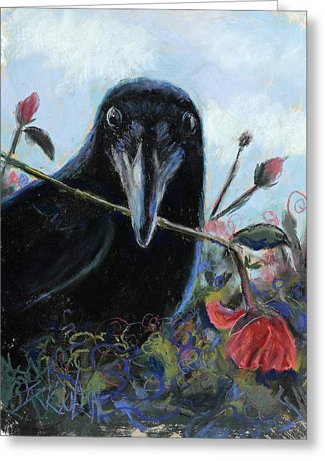 She Loves Me She Loves Me Not Greeting Card by Billie Colson