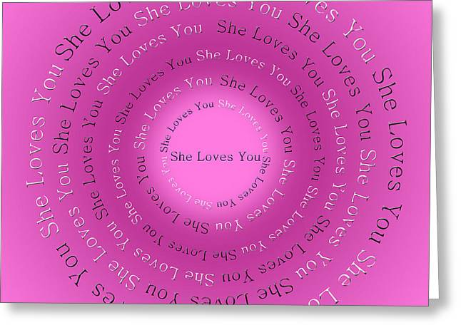 Ringo Starr Greeting Cards - She Loves You 1 Greeting Card by Andee Design
