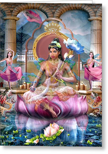 Recently Sold -  - Hindu Goddess Greeting Cards - She of 16 Years and Who Tames Ghosts Greeting Card by Wordmarque Design and Photography