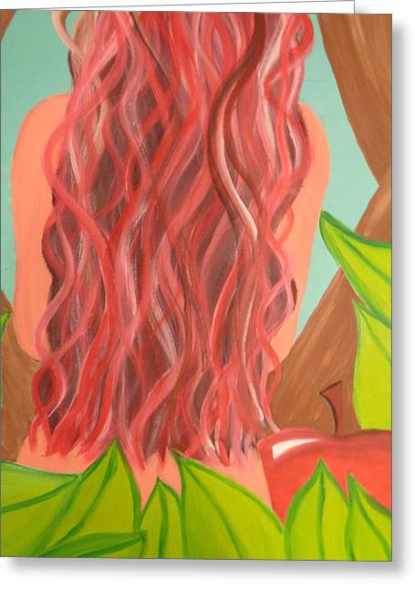 Mother Of Exiles Greeting Cards - She shall be called Eve Greeting Card by Amanda Schroeder