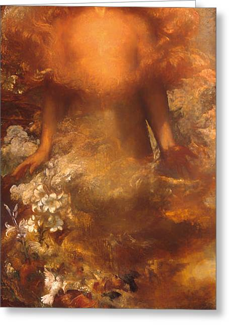 Religious Artwork Paintings Greeting Cards - She Shall be Called Woman Greeting Card by George Watts