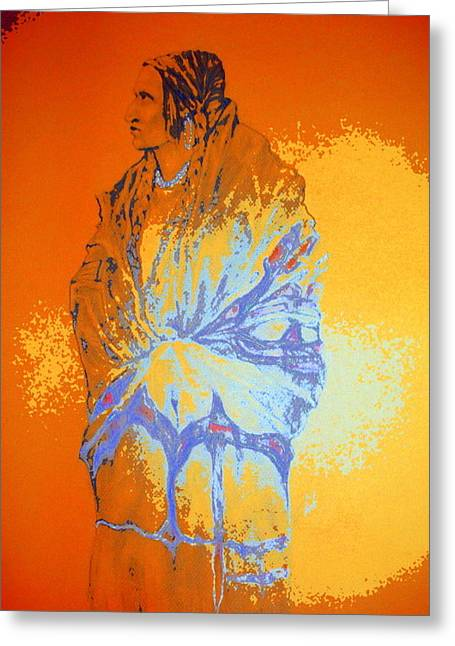 Native American Theme Greeting Cards - She Walks in Beauty Greeting Card by Johanna Elik