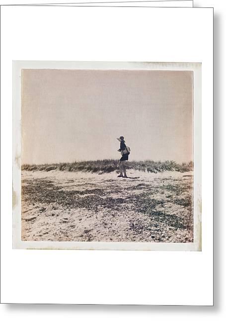 Nantucket Sound Greeting Cards - She Walks the Shores Greeting Card by Natasha Marco