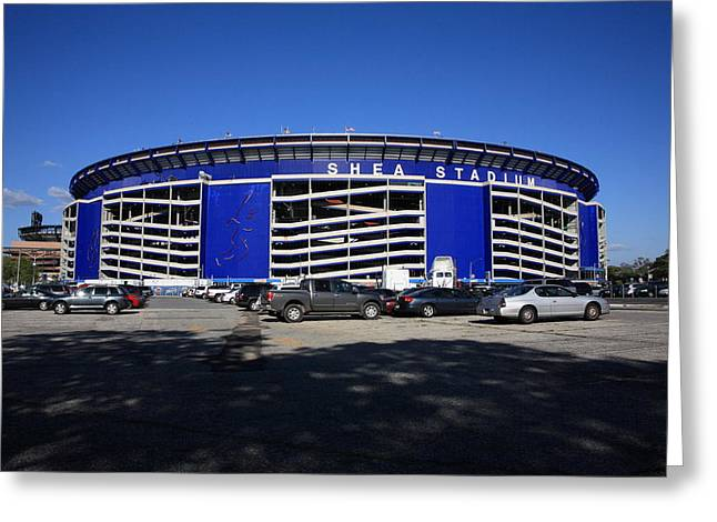 New York Mets Stadium Greeting Cards - Shea Stadium - New York Mets Greeting Card by Frank Romeo
