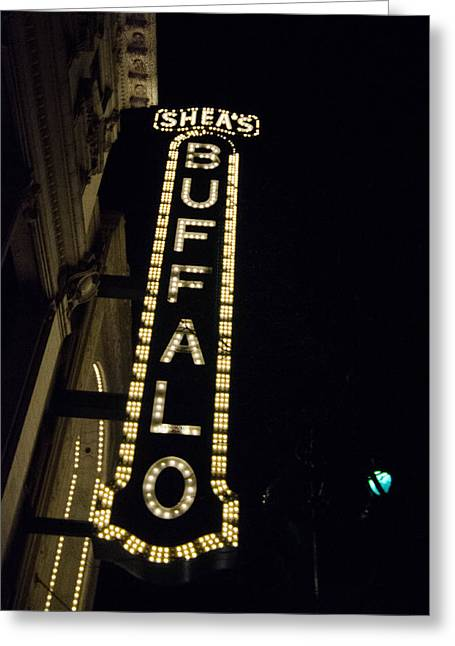 Shea's Buffalo Greeting Card by Guy Whiteley