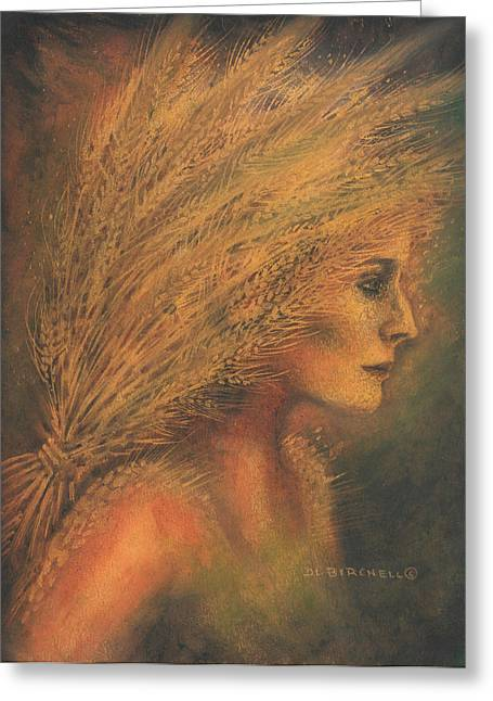 Wife Pastels Greeting Cards - Sheaves Greeting Card by Debra Birchell