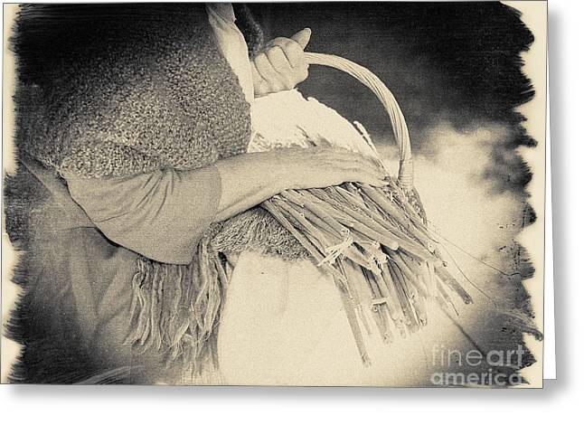 Woman Torso Photograph Greeting Cards - Sheaves of Wheat Greeting Card by Jan Tyler