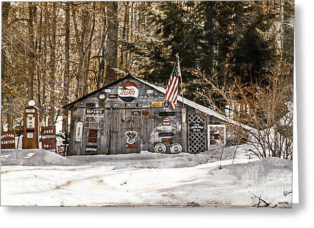 Rural Maine Roads Greeting Cards - Shed  Greeting Card by Alana Ranney