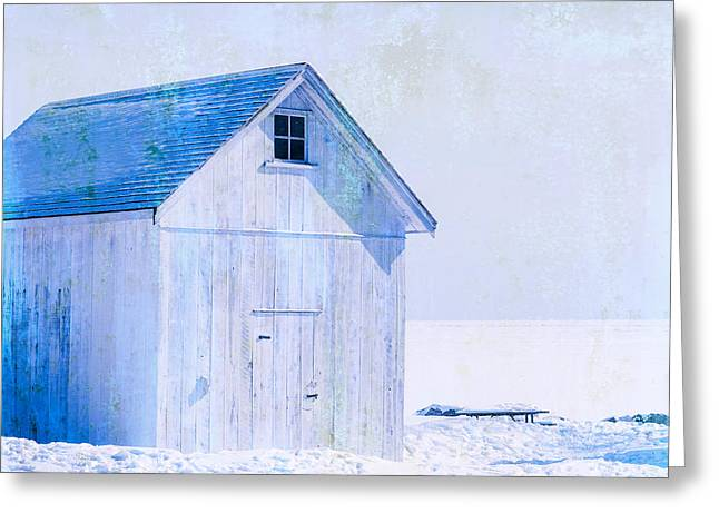 Shed Digital Art Greeting Cards - Shed On The Lake Greeting Card by Matthew Thomson