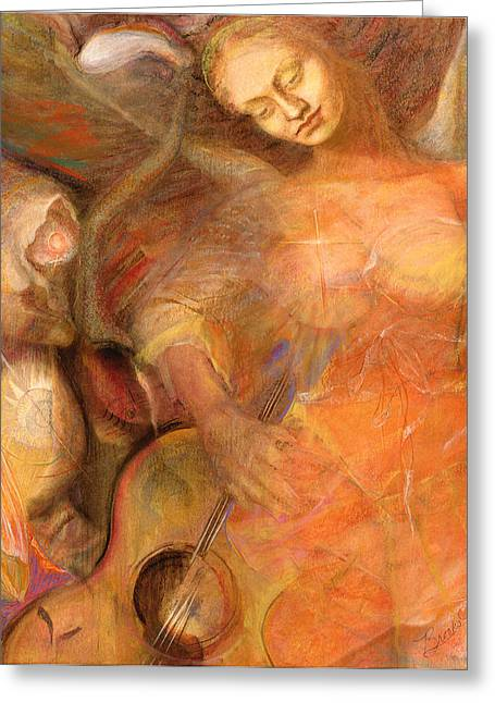 Renaissance Pastels Greeting Cards - Shedding a Little Light on the Situation 2 Greeting Card by Brooks Garten Hauschild