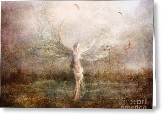 Liberation Greeting Cards - Shedding My Wings Greeting Card by Jena DellaGrottaglia