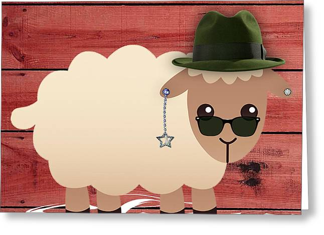 Babies Greeting Cards - Sheep Collection Greeting Card by Marvin Blaine