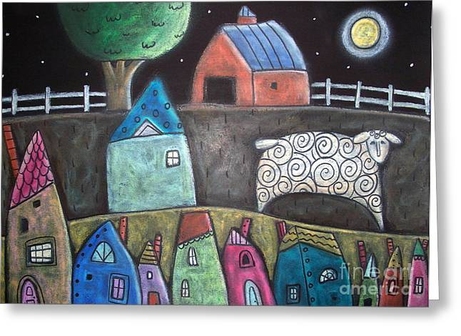 For Sale Greeting Cards - Sheep Country Greeting Card by Karla Gerard