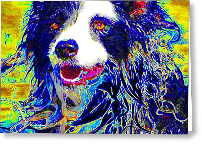 Sheep Dog 20130125v1 Greeting Card by Wingsdomain Art and Photography