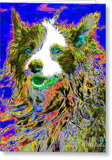 Love The Animal Greeting Cards - Sheep Dog 20130125v3 Greeting Card by Wingsdomain Art and Photography