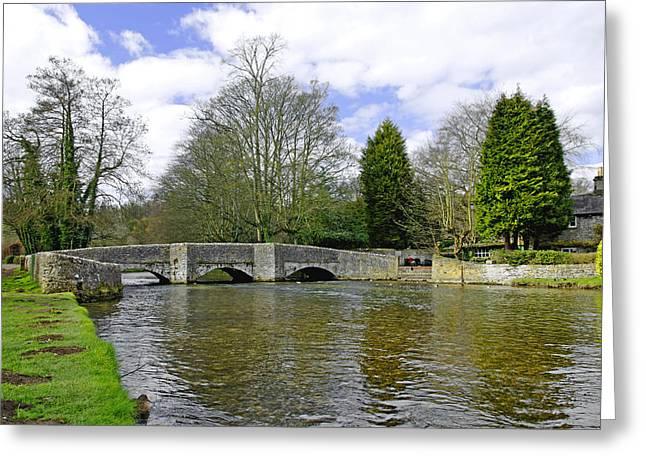 Peak District Greeting Cards - Sheepwash Bridge - Ashford-in-the-Water Greeting Card by Rod Johnson