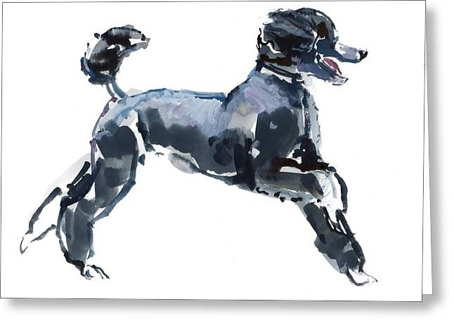 Dog Photographs Greeting Cards - Sheer Class, 2013, Watercolour And Gouache On Paper Greeting Card by Mark Adlington