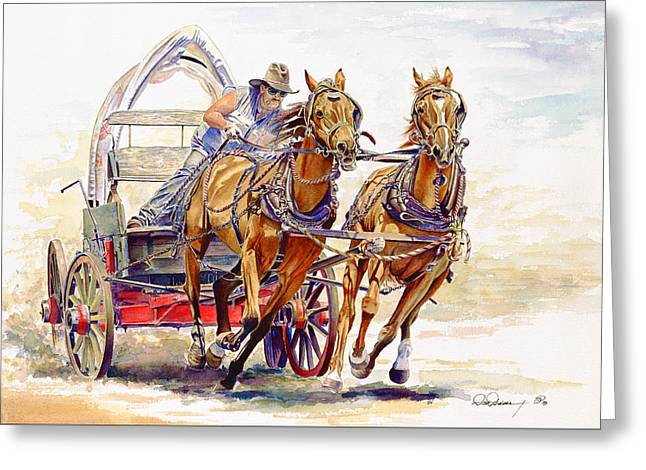 Wild Racers Greeting Cards - Sheer Horsepower Greeting Card by Don Dane