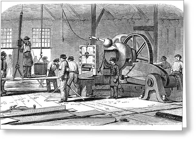 Sheet Metal Workers Greeting Card by Science Photo Library
