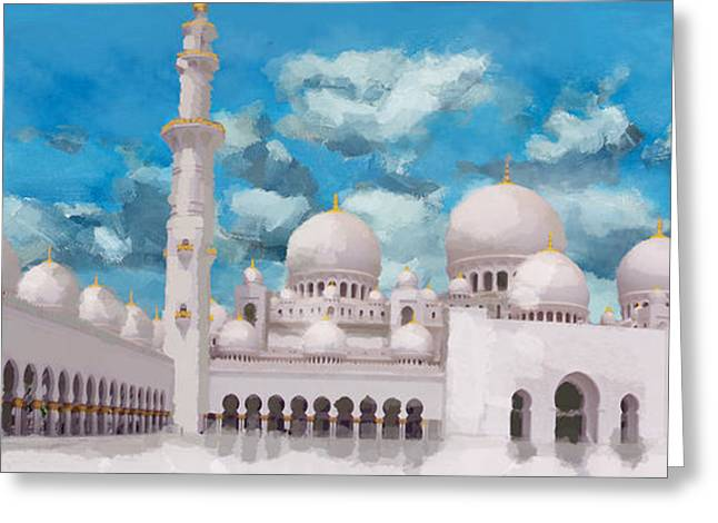 Forgiveness Greeting Cards - Sheikh Zayed Mosque Greeting Card by Catf