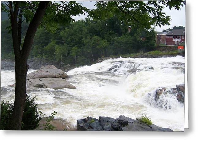 Glacial Potholes Greeting Cards - Shelburne Falls Greeting Card by Catherine Gagne
