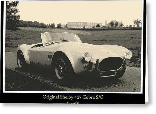 Carroll Shelby Greeting Cards - Shelby 427 Cobra S/C Greeting Card by Don Struke