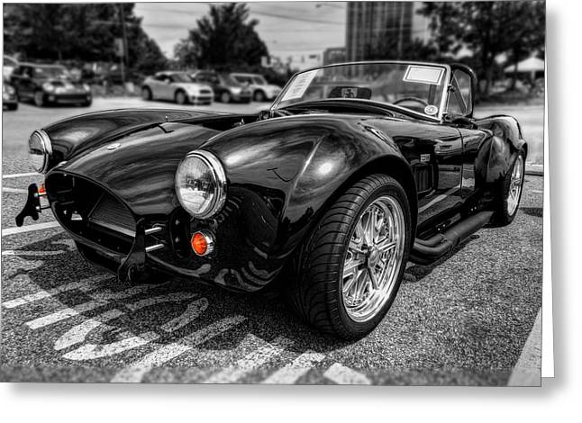 Sports Car Greeting Cards - Shelby Cobra 001 Greeting Card by Lance Vaughn