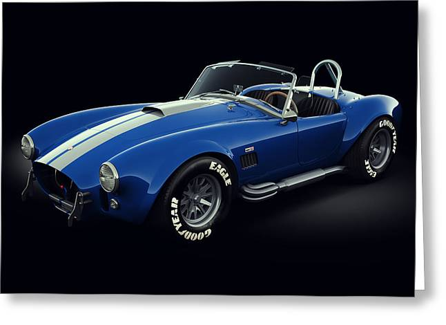 Stylish Car Greeting Cards - Shelby Cobra 427 - Bolt Greeting Card by Marc Orphanos