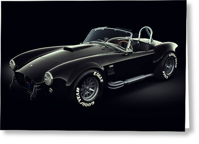 Stylish Car Greeting Cards - Shelby Cobra 427 - Ghost Greeting Card by Marc Orphanos