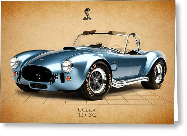 Shelby Greeting Cards - Shelby Cobra 427 SC 1965 Greeting Card by Mark Rogan