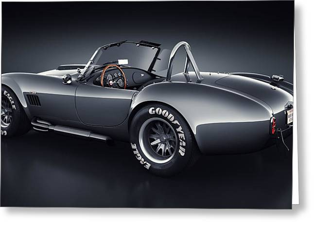 Stylish Car Greeting Cards - Shelby Cobra 427 - Venom Greeting Card by Marc Orphanos